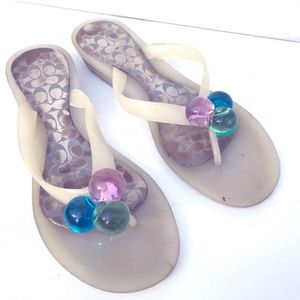 COACH Clear Madlena Sandals 7 1/2 jelly